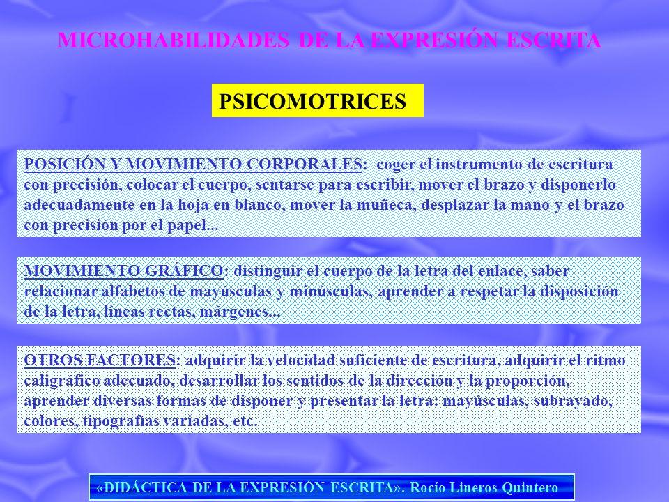 MICROHABILIDADES DE LA EXPRESIÓN ESCRITA