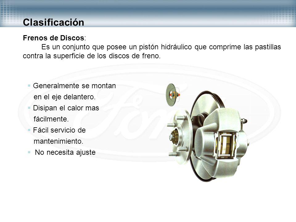 Clasificación Frenos de Discos: