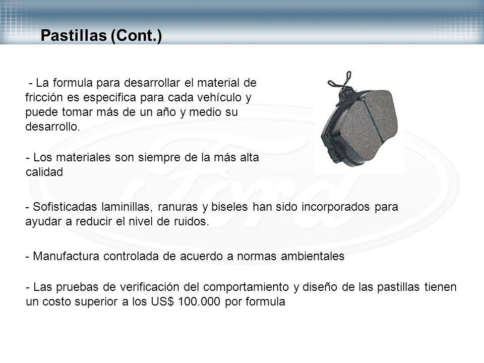 Pastillas (Cont.)