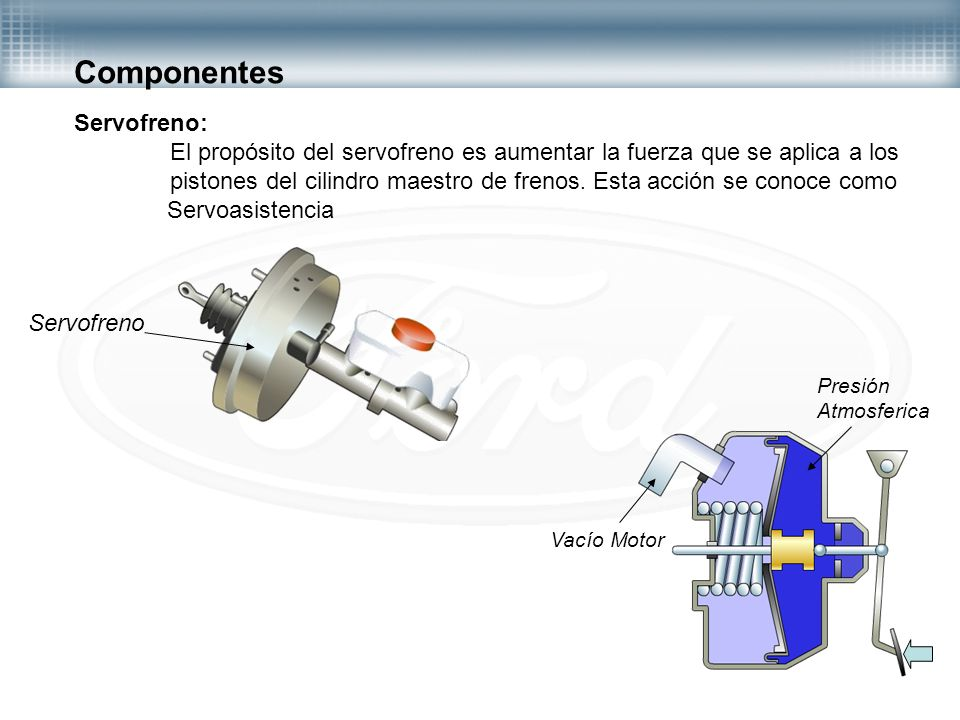 Sistema de frenos ppt video online descargar for Cilindro hidroneumatico
