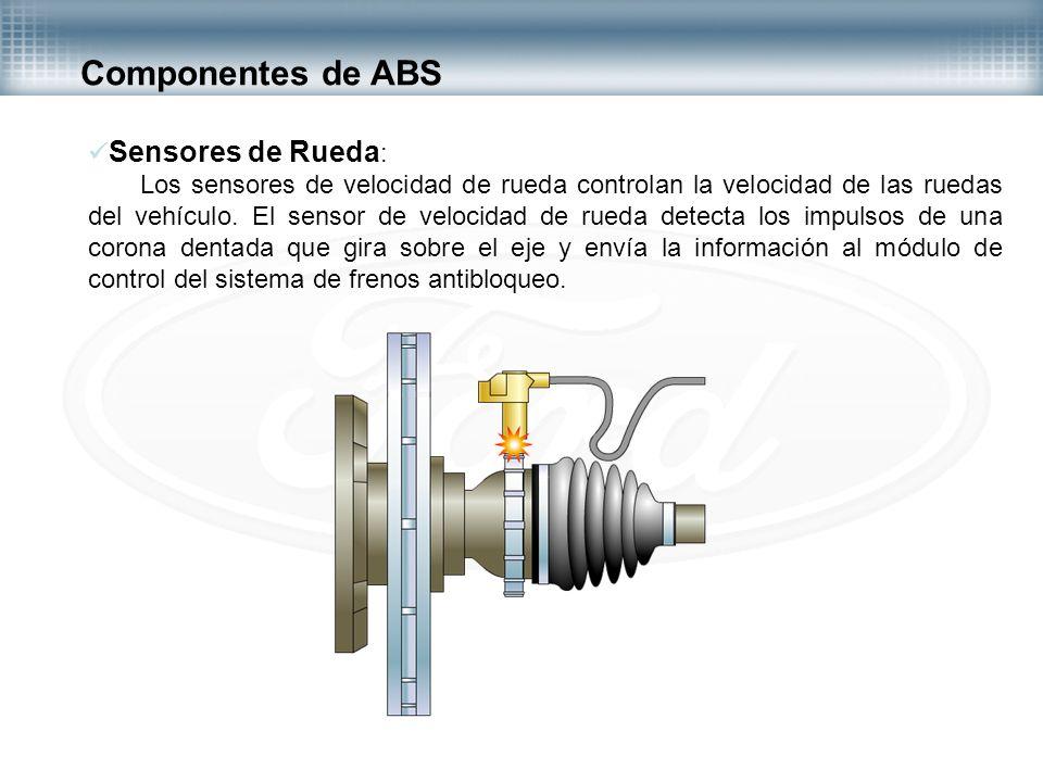 Componentes de ABS Sensores de Rueda:
