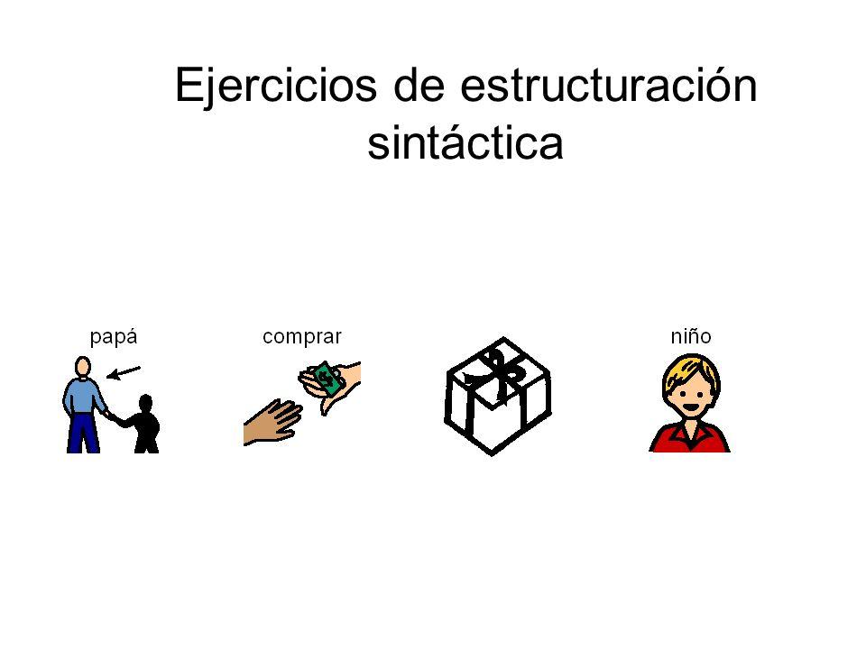 Ejercicios de estructuración sintáctica