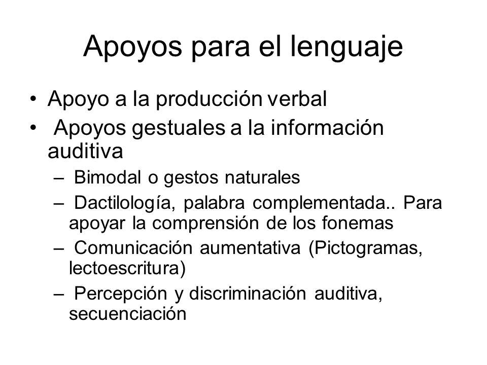 Apoyos para el lenguaje