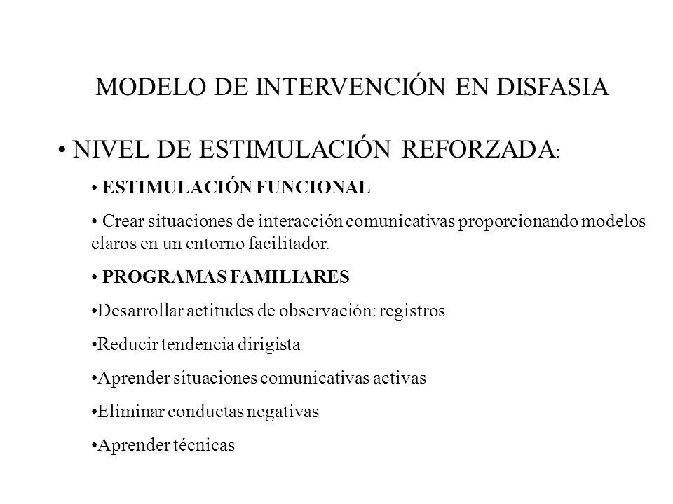 MODELO DE INTERVENCIÓN EN DISFASIA