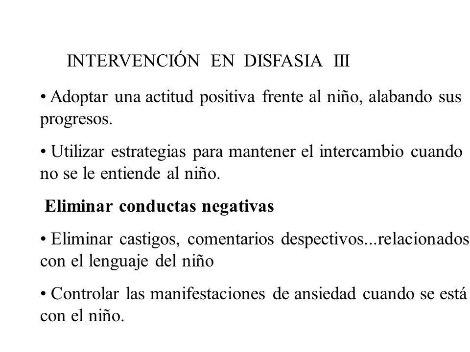 INTERVENCIÓN EN DISFASIA III