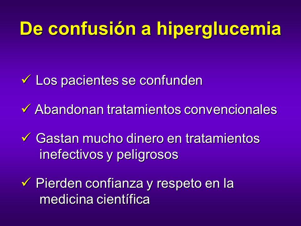 De confusión a hiperglucemia