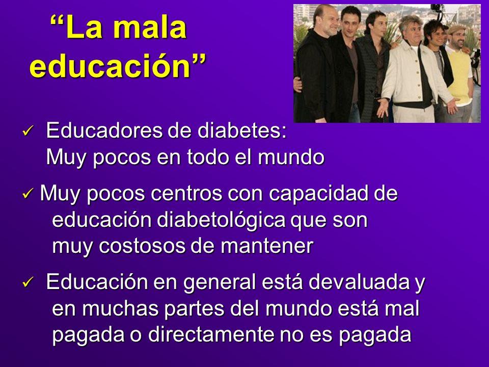 La mala educación Educadores de diabetes: Muy pocos en todo el mundo