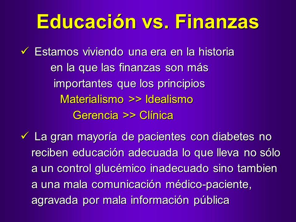 Educación vs. Finanzas