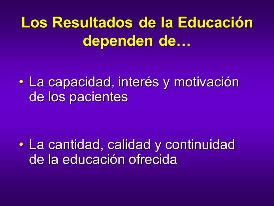 Los Resultados de la Educación dependen de…