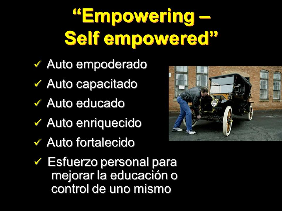 Empowering – Self empowered