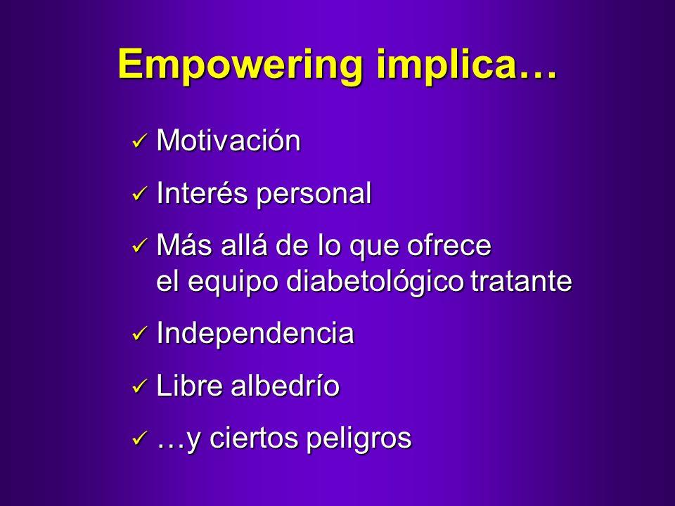 Empowering implica… Motivación Interés personal
