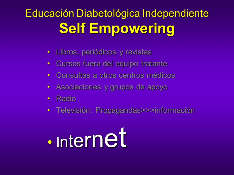 Educación Diabetológica Independiente Self Empowering