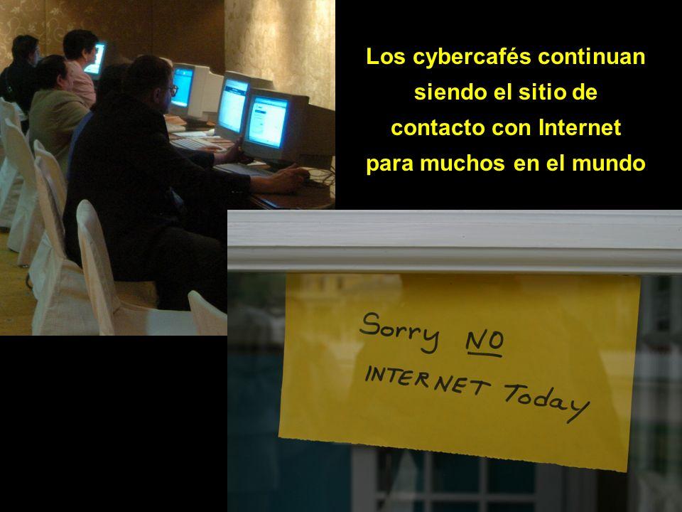 Los cybercafés continuan siendo el sitio de contacto con Internet para muchos en el mundo