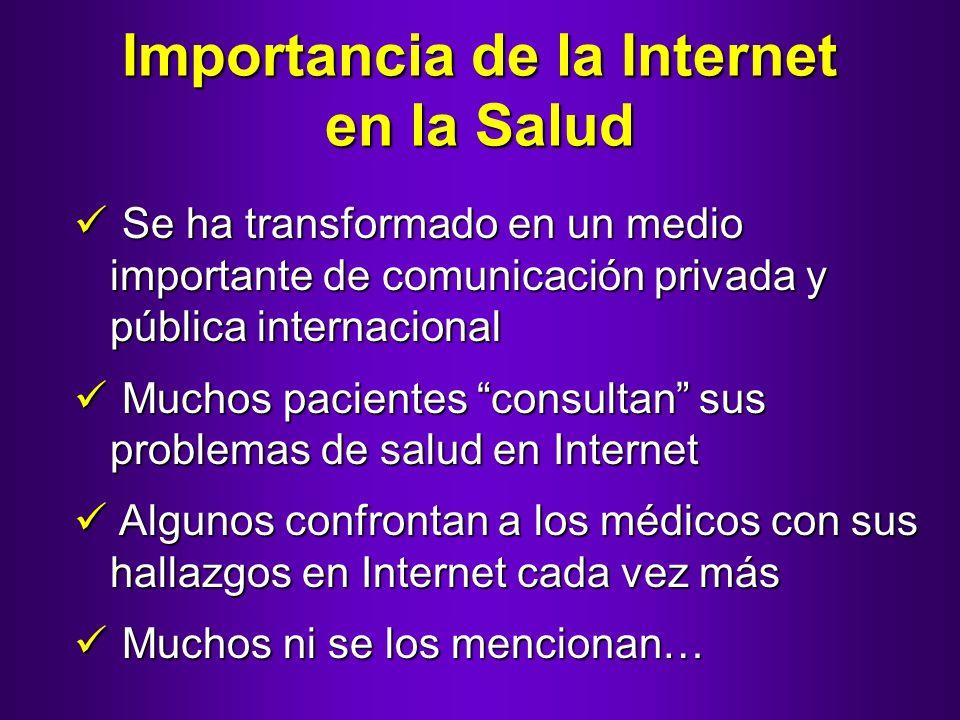 Importancia de la Internet en la Salud