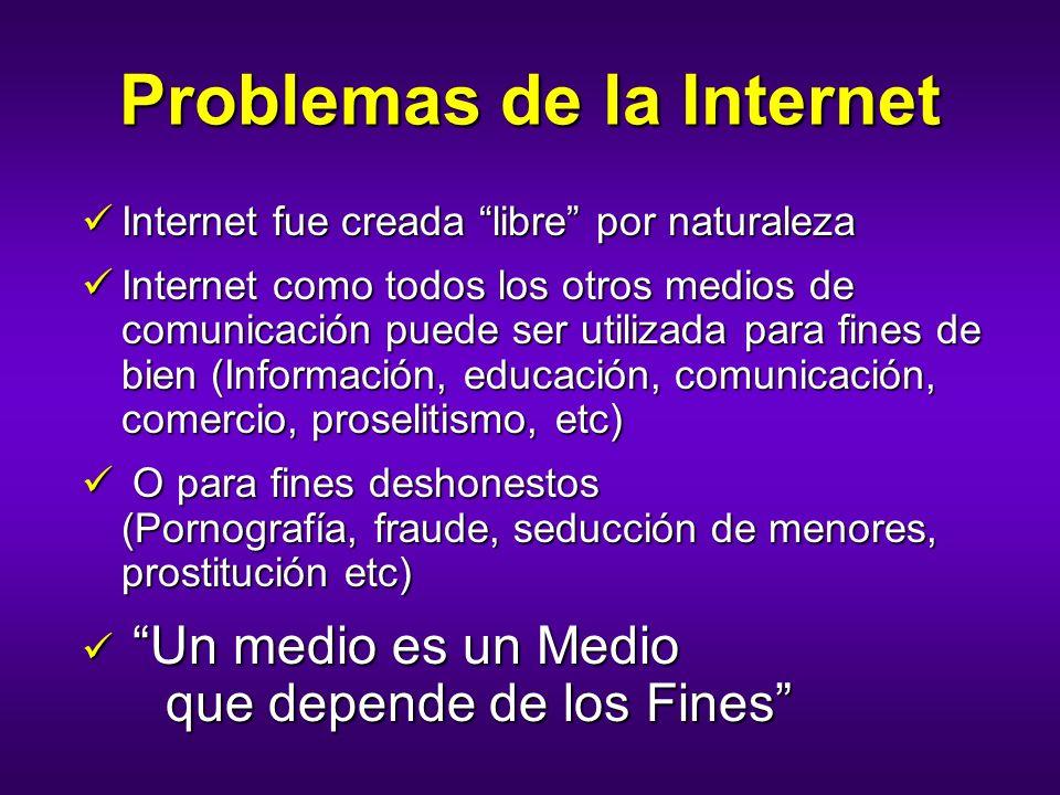 Problemas de la Internet