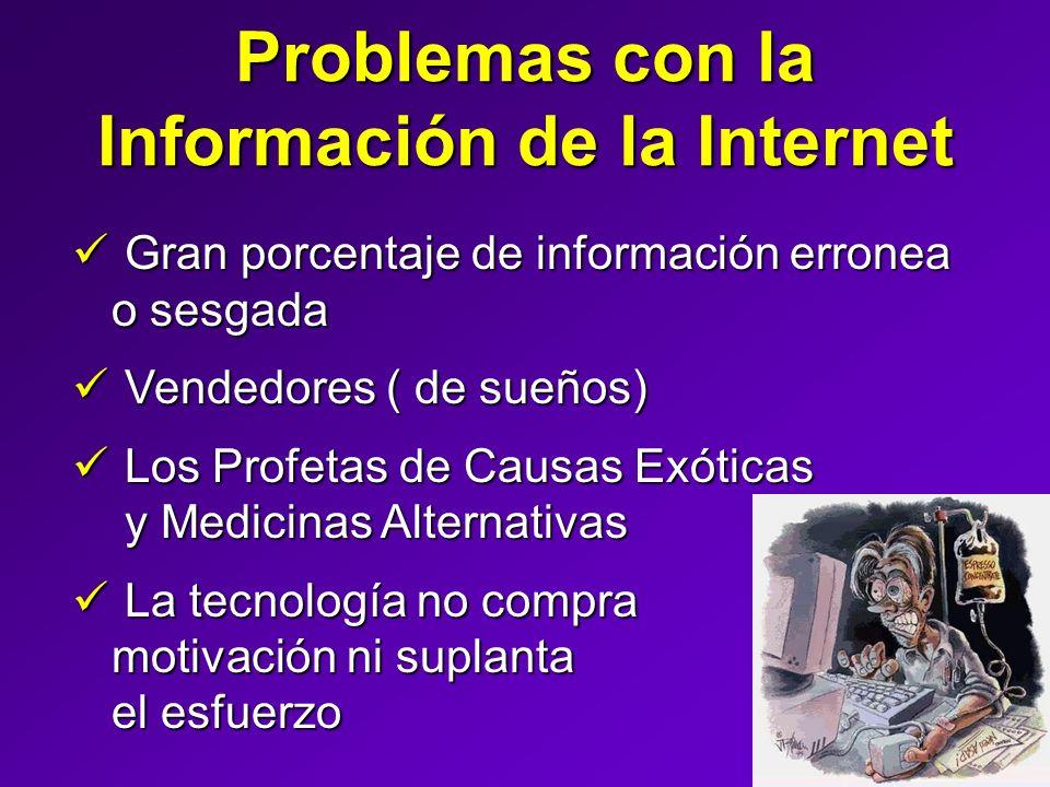 Problemas con la Información de la Internet