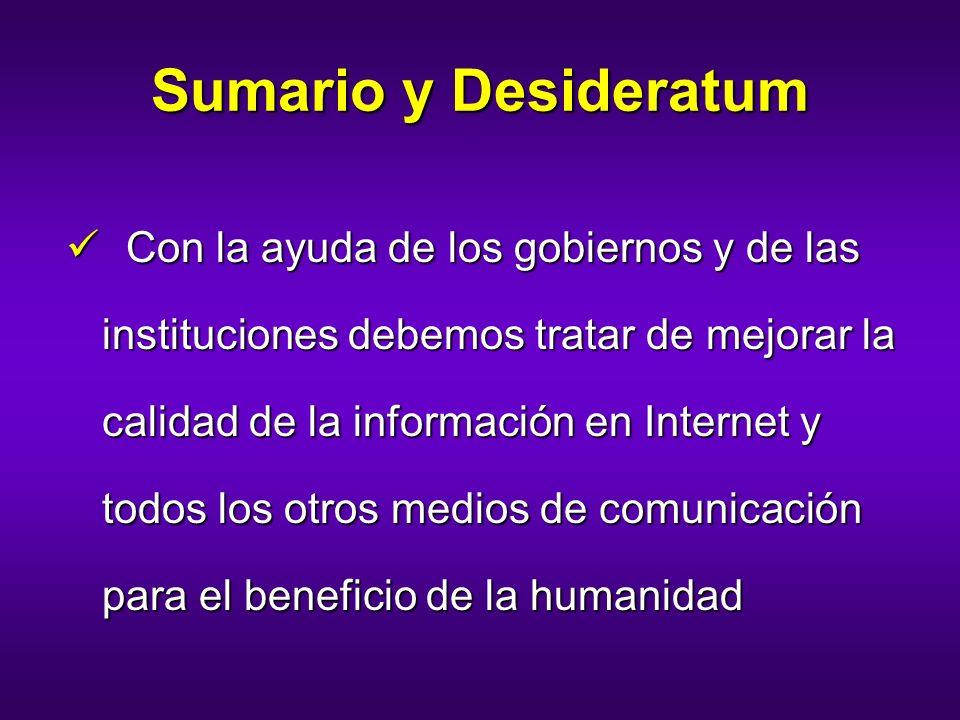 Sumario y Desideratum