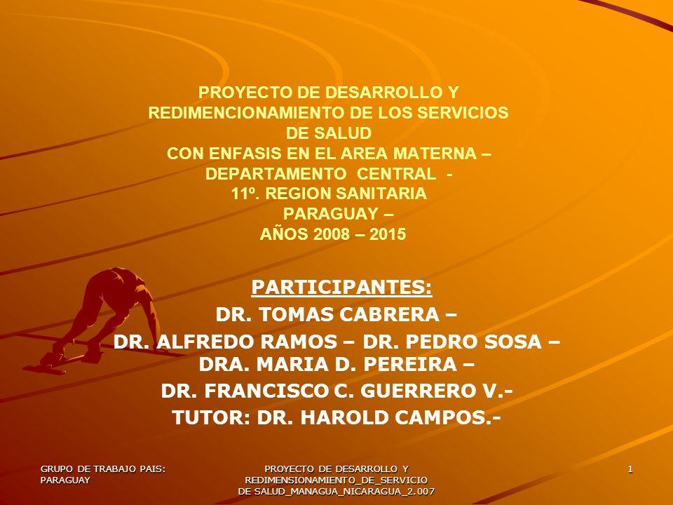 DR. ALFREDO RAMOS – DR. PEDRO SOSA – DRA. MARIA D. PEREIRA –