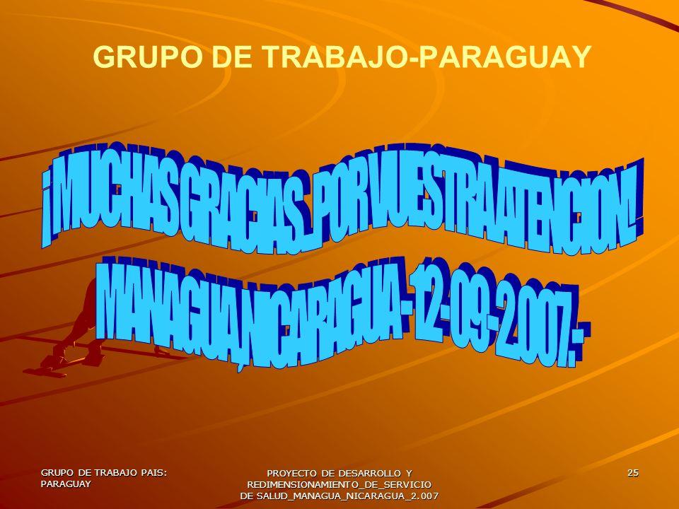 GRUPO DE TRABAJO-PARAGUAY