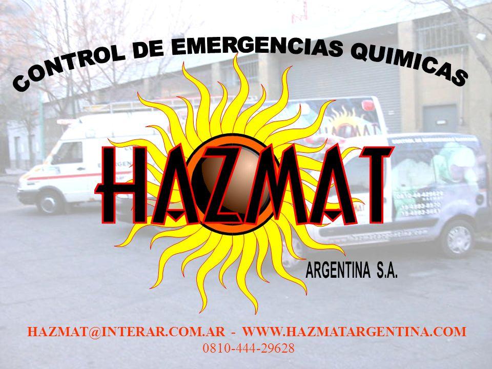CONTROL DE EMERGENCIAS QUIMICAS