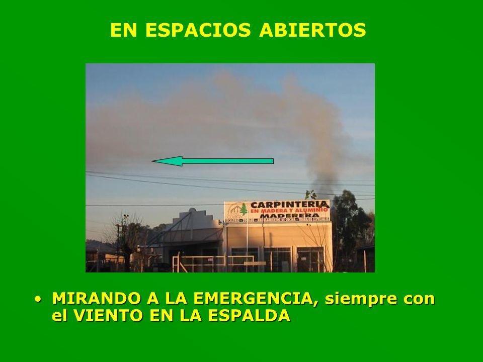 EN ESPACIOS ABIERTOS MIRANDO A LA EMERGENCIA, siempre con el VIENTO EN LA ESPALDA