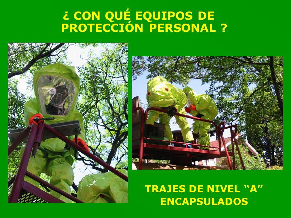 ¿ CON QUÉ EQUIPOS DE PROTECCIÓN PERSONAL
