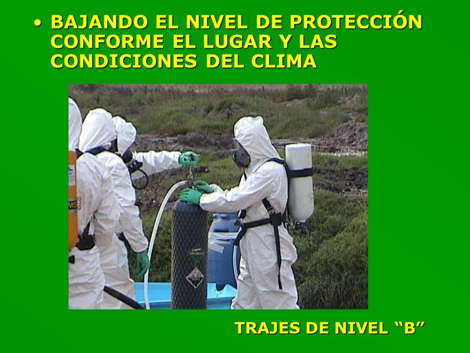 BAJANDO EL NIVEL DE PROTECCIÓN CONFORME EL LUGAR Y LAS CONDICIONES DEL CLIMA