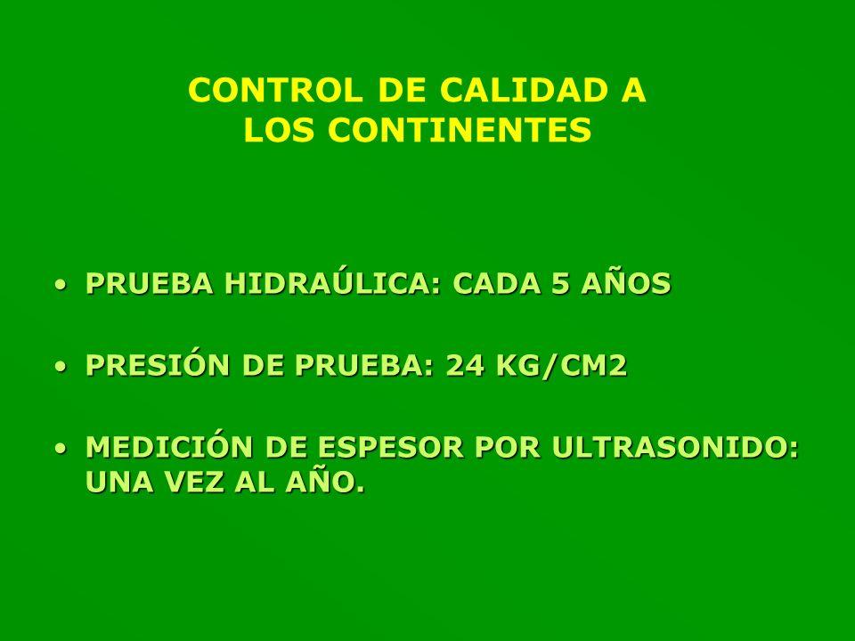 CONTROL DE CALIDAD A LOS CONTINENTES