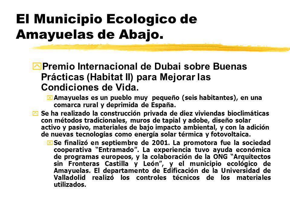 El Municipio Ecologico de Amayuelas de Abajo.