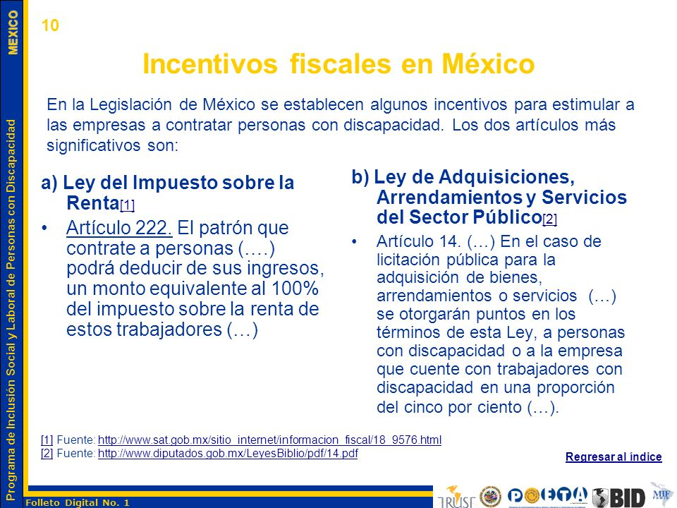 Incentivos fiscales en México