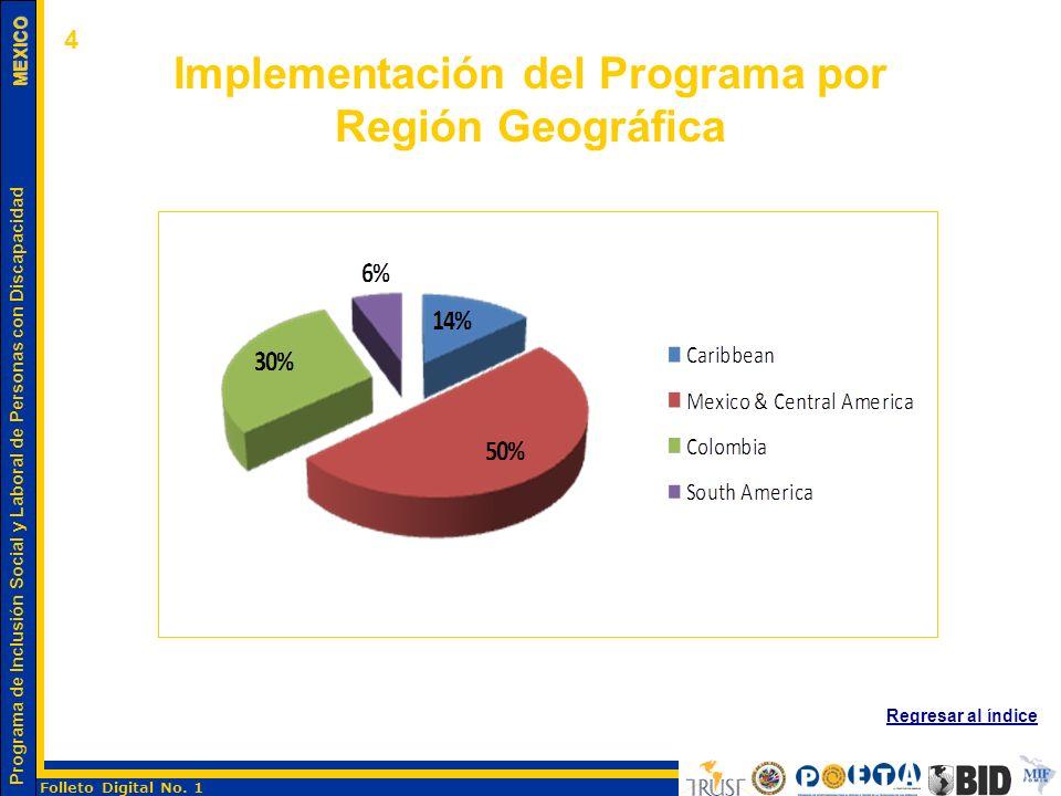 Implementación del Programa por Región Geográfica