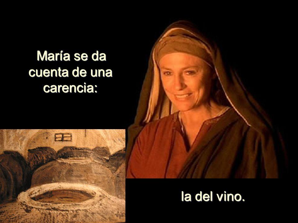 María se da cuenta de una carencia: