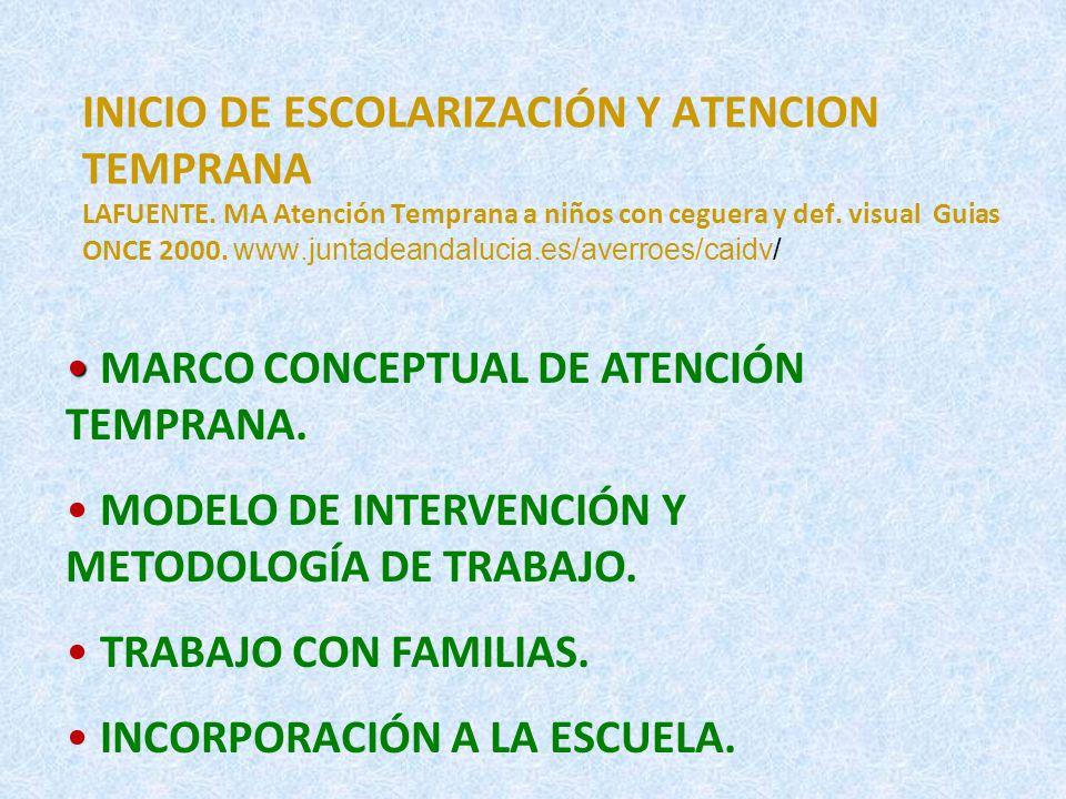 INICIO DE ESCOLARIZACIÓN Y ATENCION TEMPRANA LAFUENTE