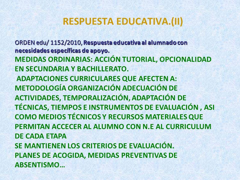 RESPUESTA EDUCATIVA.(II)