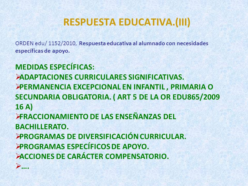 RESPUESTA EDUCATIVA.(III)
