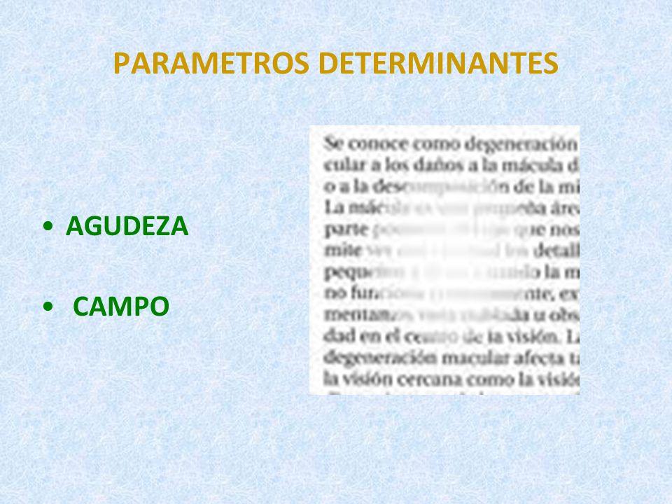 PARAMETROS DETERMINANTES