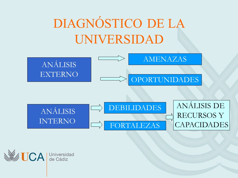 DIAGNÓSTICO DE LA UNIVERSIDAD