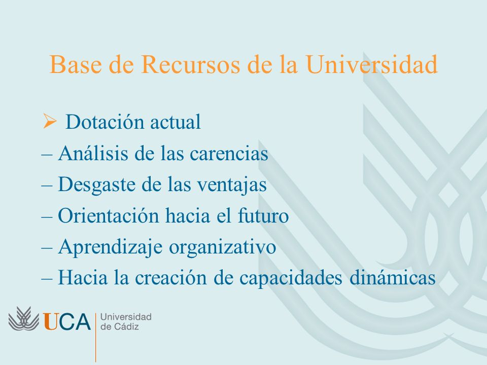 Base de Recursos de la Universidad