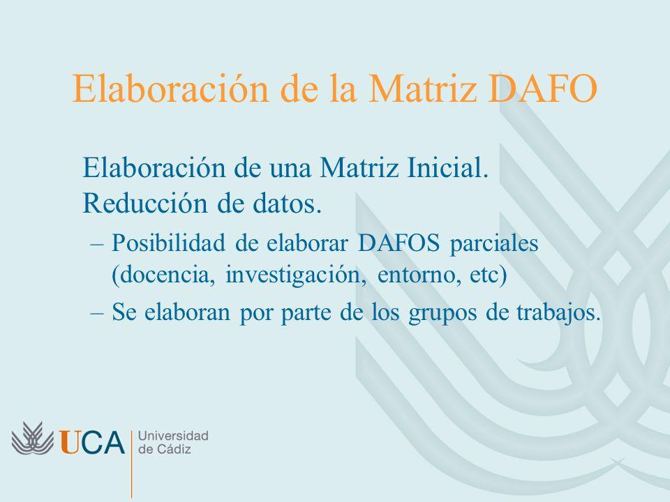Elaboración de la Matriz DAFO