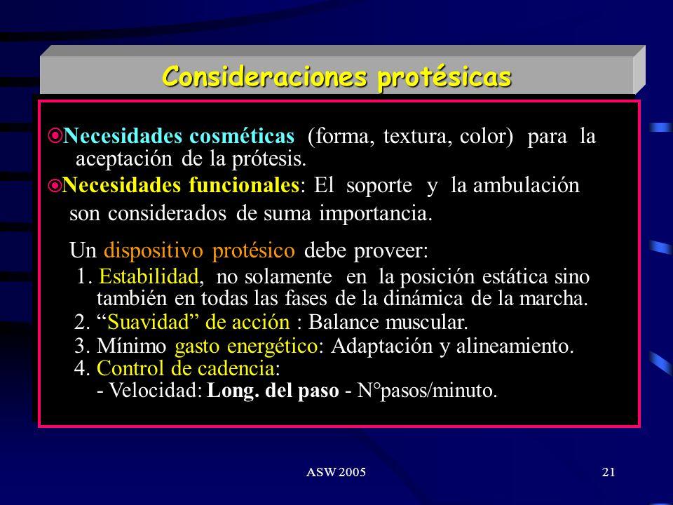 Consideraciones protésicas