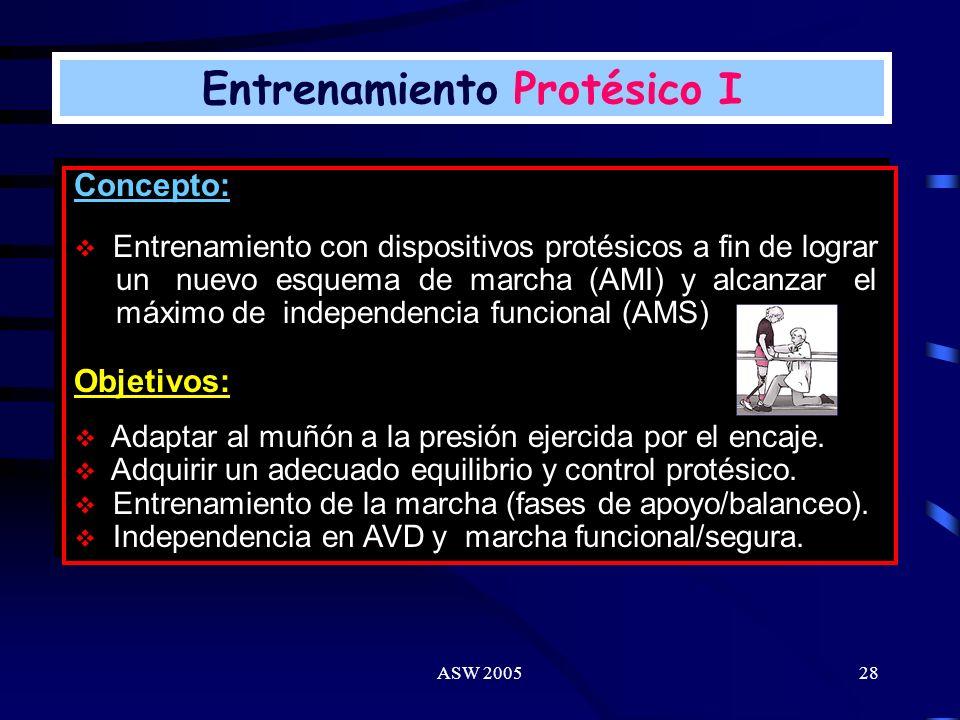 Entrenamiento Protésico I