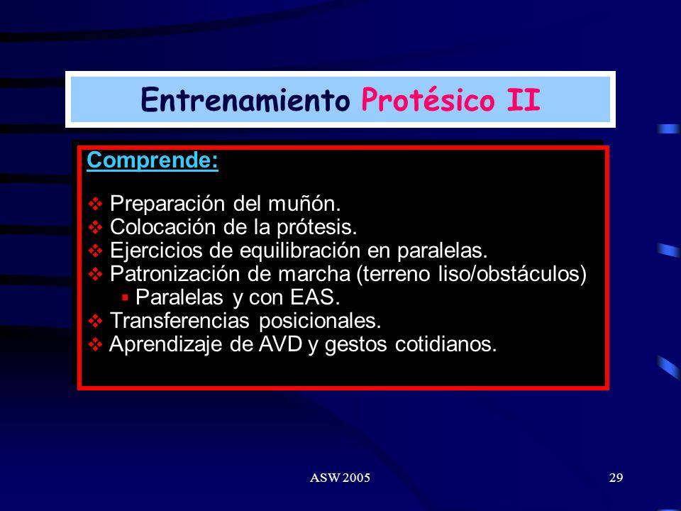 Entrenamiento Protésico II