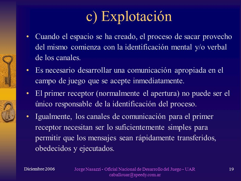 c) Explotación
