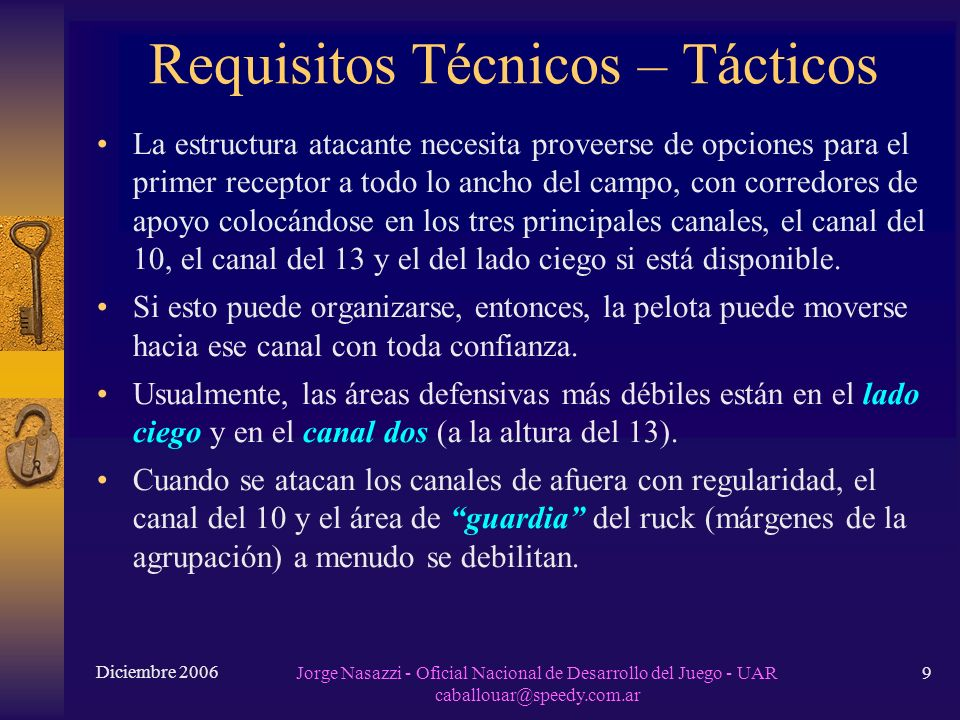Requisitos Técnicos – Tácticos