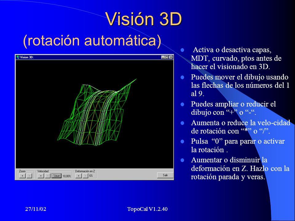 Visión 3D (rotación automática)
