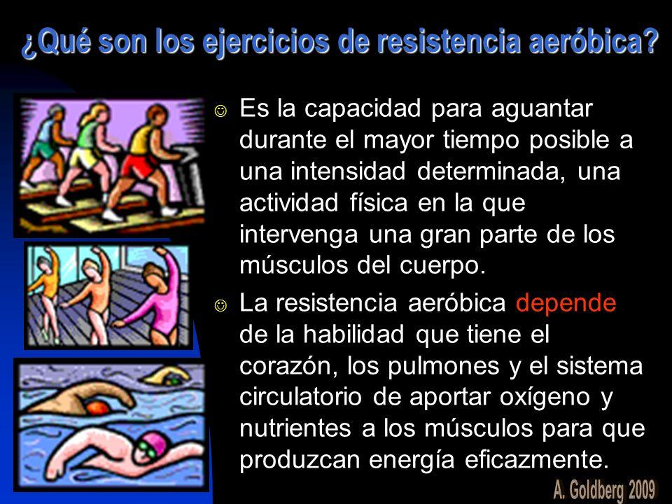 ¿Qué son los ejercicios de resistencia aeróbica