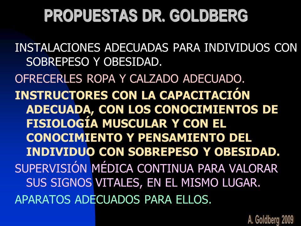 PROPUESTAS DR. GOLDBERG