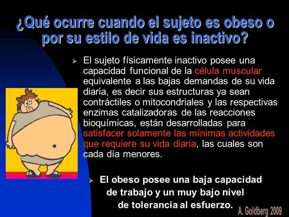 ¿Qué ocurre cuando el sujeto es obeso o por su estilo de vida es inactivo