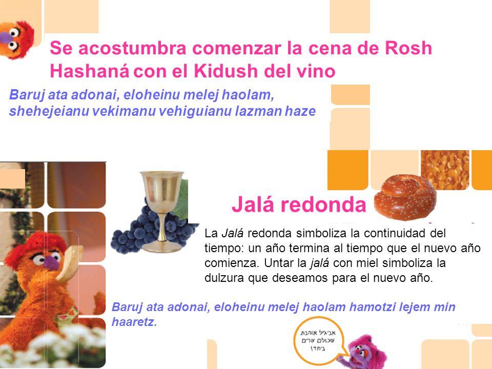 Se acostumbra comenzar la cena de Rosh Hashaná con el Kidush del vino
