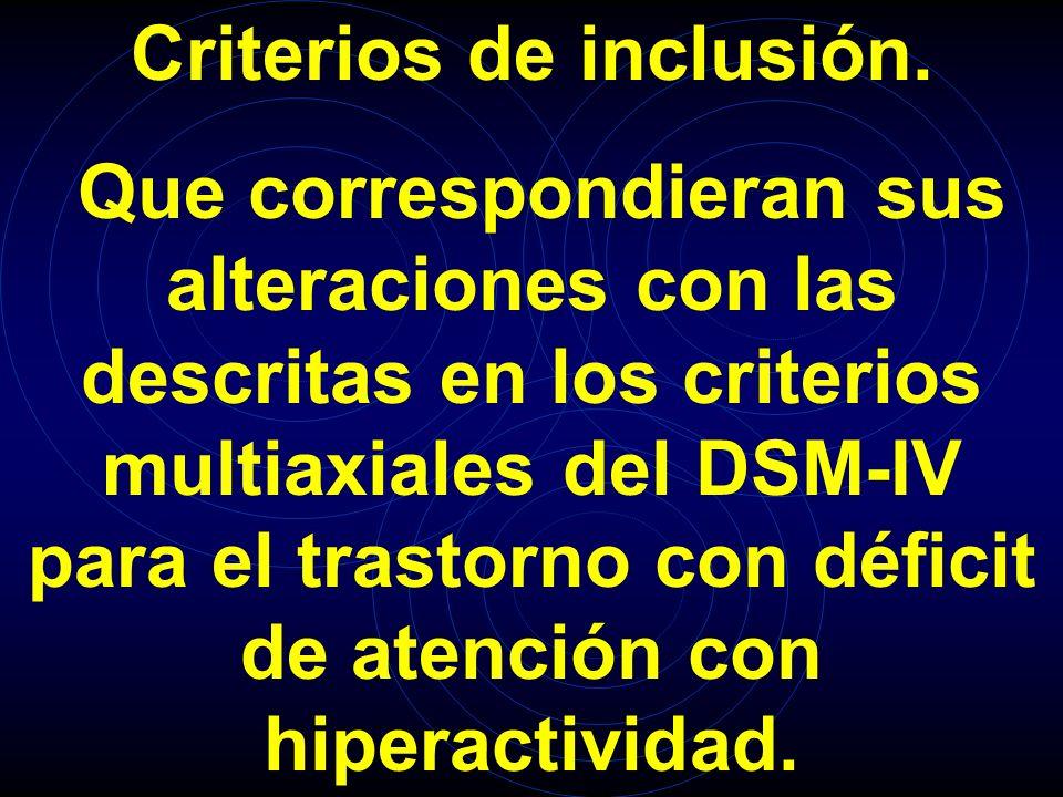 Criterios de inclusión.